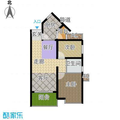 祈福新村活力花园87.03㎡12座07面积8703m户型