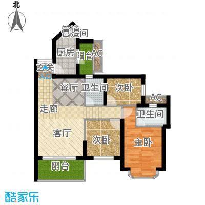 祈福新村活力花园67.88㎡10座01面积6788m户型