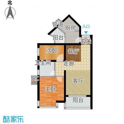 祈福新村活力花园83.86㎡5座160面积8386m户型