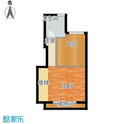 铂林国际公寓36.53㎡面积3653m户型
