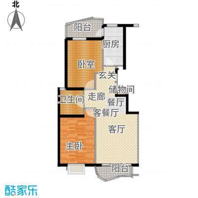芳草轩86.00㎡面积8600m户型