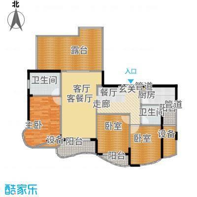 芳草轩128.34㎡C1、C2睿智家园3面积12834m户型