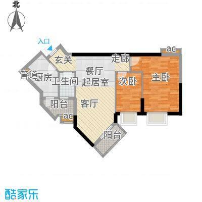 万科天河御品73.00㎡11栋13-16层面积7300m户型