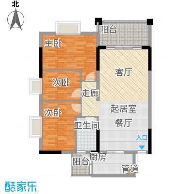 万科天河御品105.00㎡03栋19-25层面积10500m户型