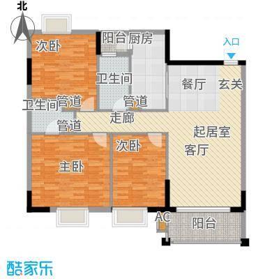 万科天河御品119.00㎡10栋12层以面积11900m户型