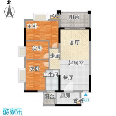万科天河御品105.00㎡03栋4-18层面积10500m户型