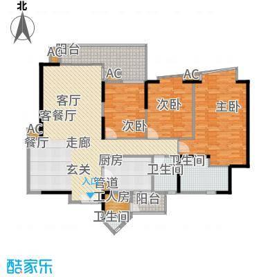 君汇世家153.00㎡D栋03单元面积15300m户型