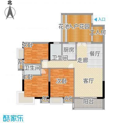 珠光高派142.85㎡02单元3室2面积14285m户型