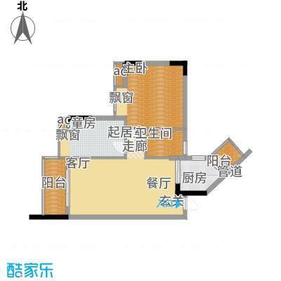 盛大蓝庭82.03㎡D栋04单元2室2面积8203m户型