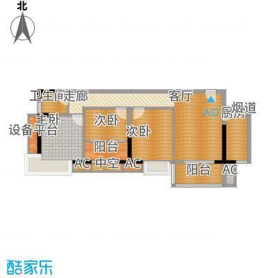 银汇华庭97.09㎡二期07单元3室面积9709m户型