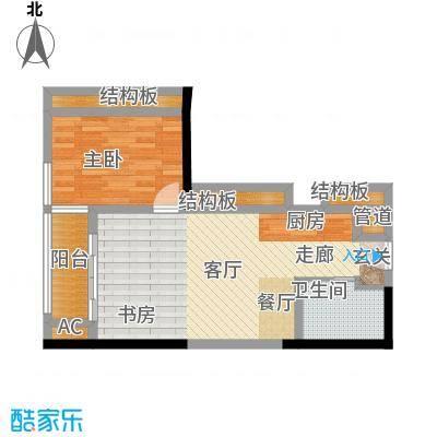 珠江新岸公寓58.65㎡07面积5865m户型
