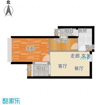 珠江新岸公寓48.18㎡08-101面积4818m户型