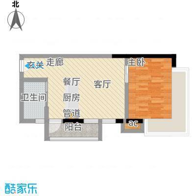 珠江新岸公寓50.40㎡01面积5040m户型