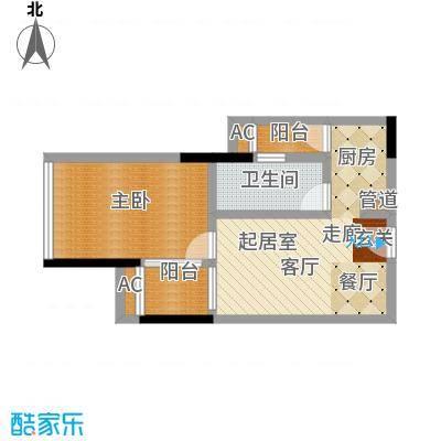 珠江新岸公寓46.46㎡16面积4646m户型