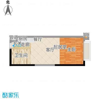 珠江新岸公寓47.34㎡20-27面积4734m户型
