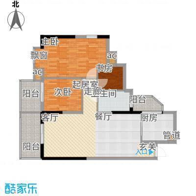 盛大蓝庭93.78㎡D栋02单元3室2面积9378m户型