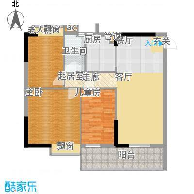 盛大蓝庭70.87㎡E栋02单元3室2面积7087m户型