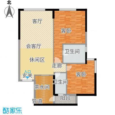 富力爱丁堡国际公寓124.96㎡1面积12496m户型