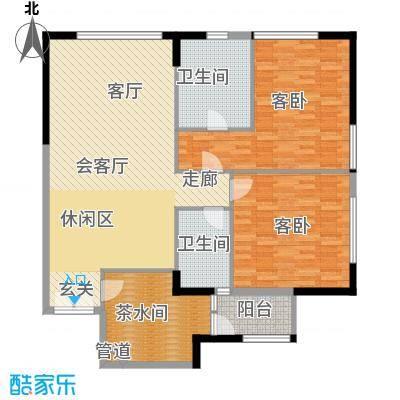 富力爱丁堡国际公寓123.79㎡2面积12379m户型