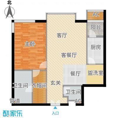 富力爱丁堡国际公寓104.11㎡面积10411m户型
