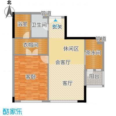 富力爱丁堡国际公寓95.44㎡1面积9544m户型