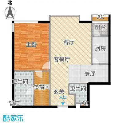 富力爱丁堡国际公寓105.12㎡面积10512m户型