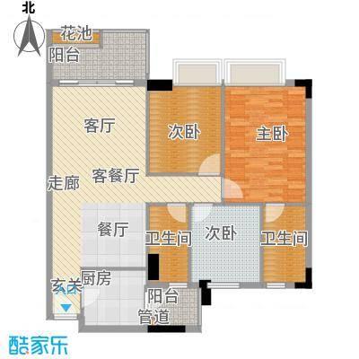 都市兰亭107.79㎡C1座12层03单元面积10779m户型