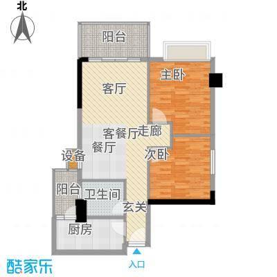 都市兰亭80.02㎡E1座05单元3室面积8002m户型