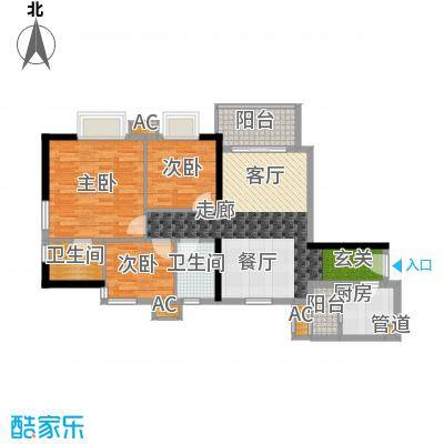 西门口广场88.00㎡七座五至二十面积8800m户型