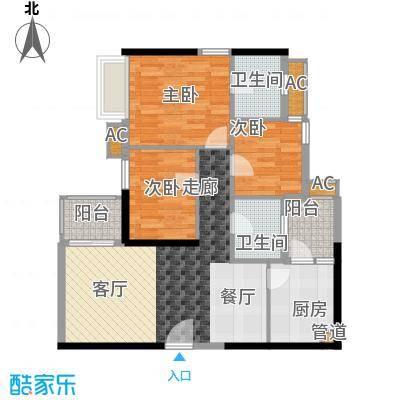 西门口广场87.00㎡七座五至二十面积8700m户型