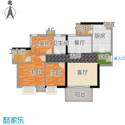 西门口广场95.00㎡六座五至二十面积9500m户型