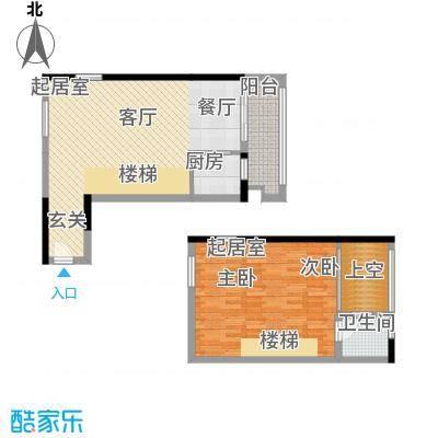 理想青年荟67.16㎡5-21层1、24单面积6716m户型