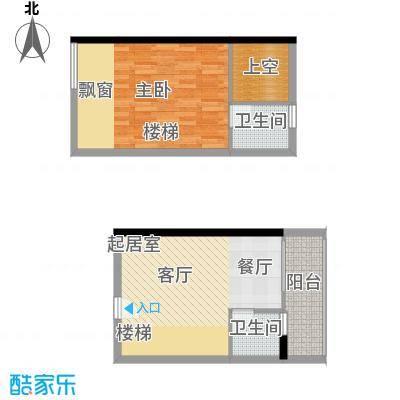 理想青年荟42.09㎡E092面积4209m户型
