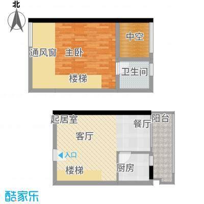 理想青年荟46.28㎡B022面积4628m户型