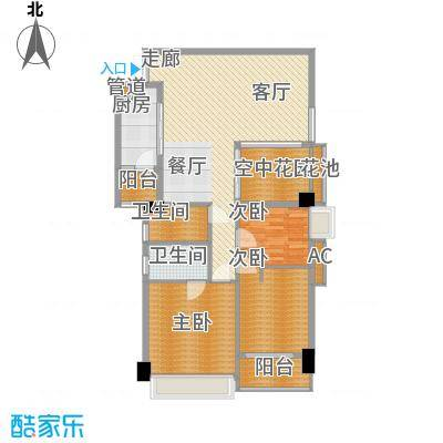 广弘天琪127.80㎡3面积12780m户型