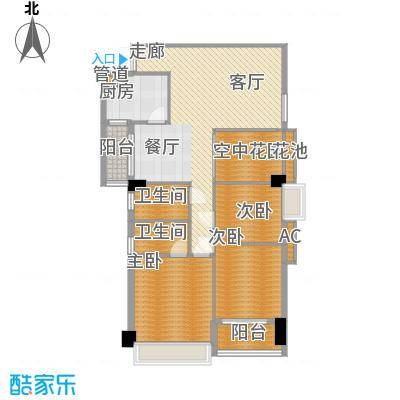 广弘天琪126.67㎡B栋02单元(3―面积12667m户型