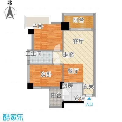 广弘天琪65.41㎡2面积6541m户型