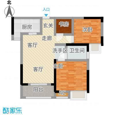 中国铁建梧桐苑84.06㎡7、8、9、10号楼C2户型