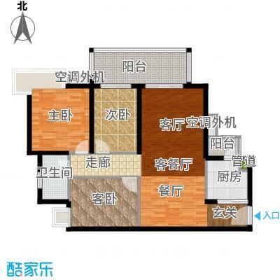 滨江水恋107.00㎡3面积10700m户型
