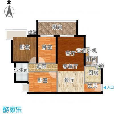 滨江水恋107.00㎡05单位1面积10700m户型
