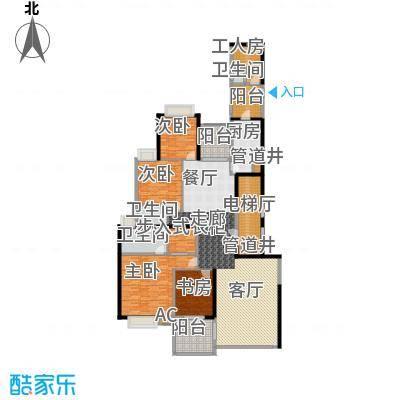 中海观园国际243.87㎡D栋38-43层面积24387m户型