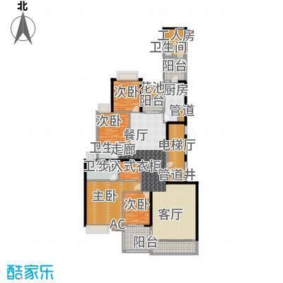 中海观园国际243.03㎡D栋9-34层2面积24303m户型
