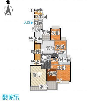 中海观园国际243.03㎡D栋35至37层面积24303m户型