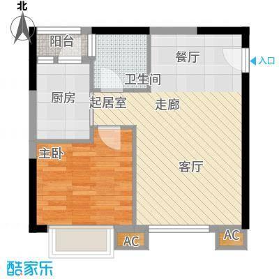 金碧翡翠华庭47.97㎡3号楼C面积4797m户型