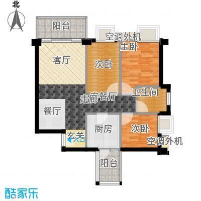 尚领时代88.36㎡B栋305单元3室面积8836m户型