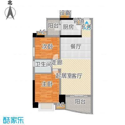 金碧翡翠华庭84.83㎡3号楼7-28面积8483m户型