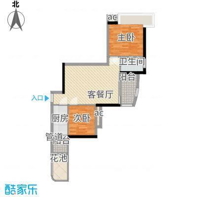 富力朗逸轩72.21㎡3-13层08单位面积7221m户型