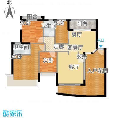 广州雅居乐花园花巷141.67㎡BA3面积14167m户型