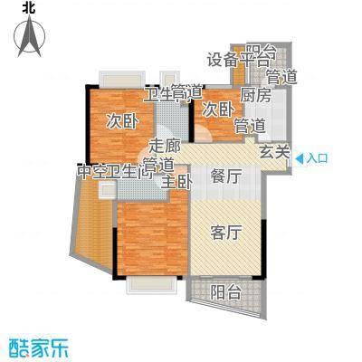 方圆月岛146.00㎡B塔41-45层B13面积14600m户型