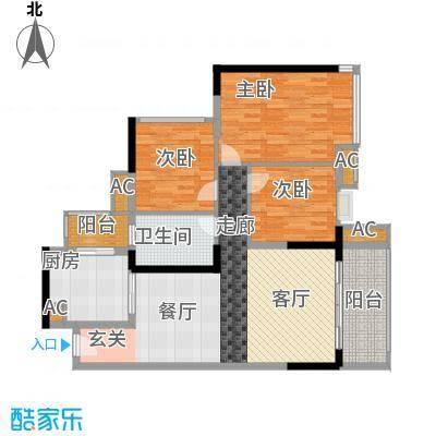 中海橡园国际101.07㎡4栋07单元户面积10107m户型